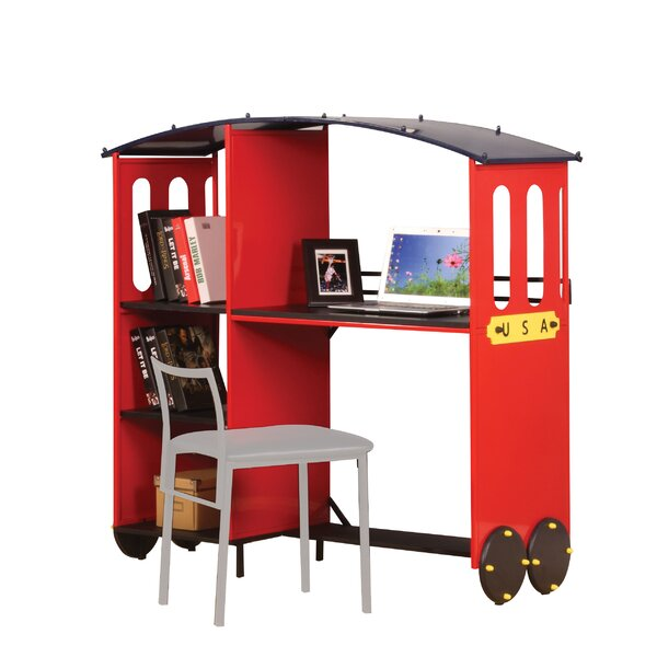 Edenburg 53 Writing Desk with Bookcase by Zoomie Kids
