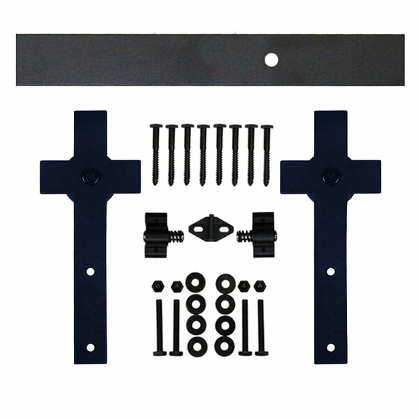 Single Cross Sliding Barn Door Hardware by Vancleef