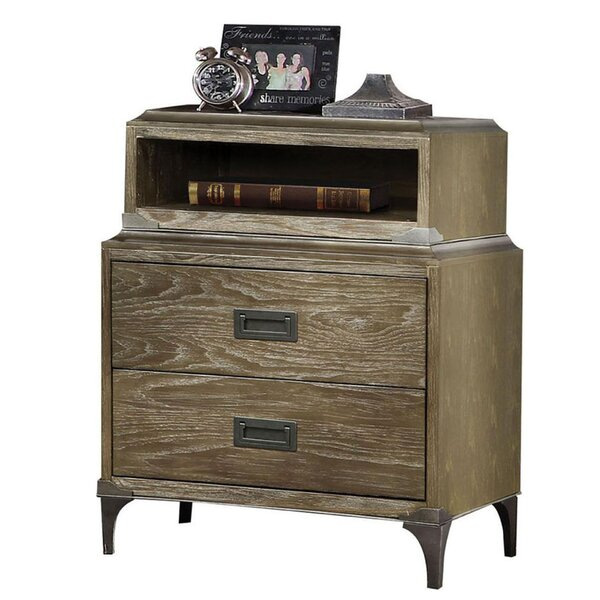 Kissner 2 Drawer Nightstand by Gracie Oaks