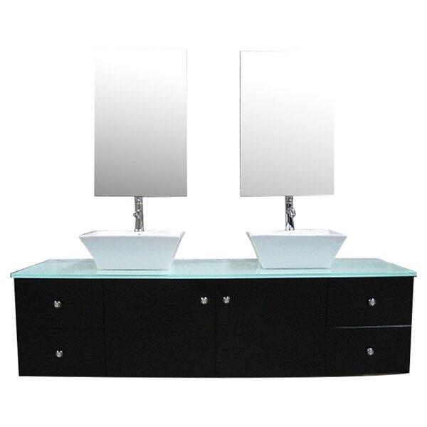 Newcastle 61 Double Bathroom Vanity Set with Mirror by Brayden Studio