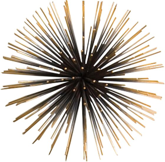 Modern Metal Fireworks Wall Décor by Langley Street