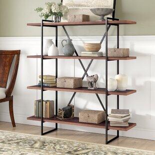 Herringbone Inlay Etagere Bookcase