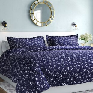 Modern Tree Duvet Set Contemporary Blue Bedroom Bedding Bed Cover Shams 3pc NEW
