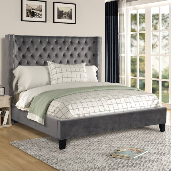 Purkey Upholstered Standard Bed by Everly Quinn Everly Quinn