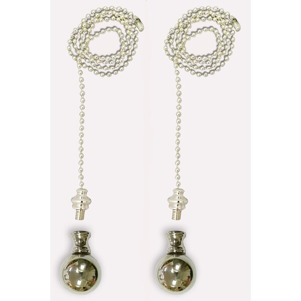 Fan Pull Chain with Large Ball Finial (Set of 2) by Royal Designs