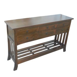 Diandra Wooden 6 Drawer Console Table by Darby Home Co