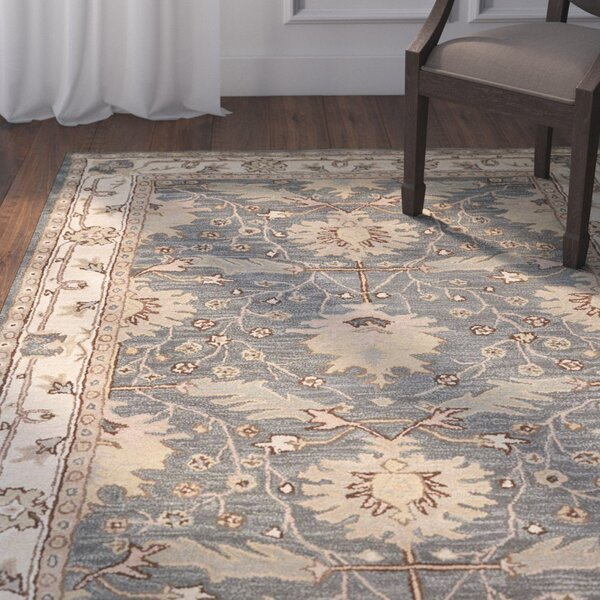 Constance Hand-Tufted Wool Blue Area Rug by Birch Lane™
