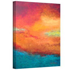 'Lake Reflections' Painting Print on Wrapped Canvas by Zipcode Design