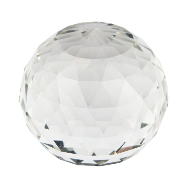 Decorative Glass Faceted Orb Sculpture by House of Hampton