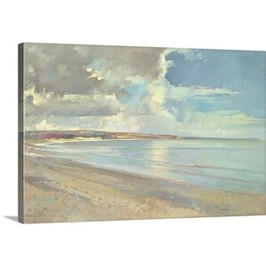 'Reflected Clouds, Oxwich Beach, 2001' by Timothy Easton Painting Print on Canvas by Great Big Canvas