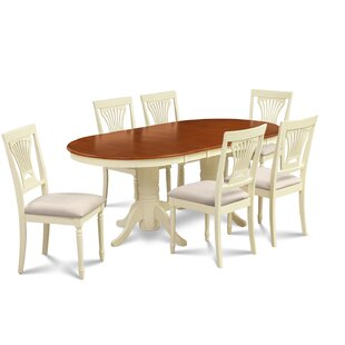 Lunde 7 Piece Extendable Solid Wood Dining Set by Andover Mills