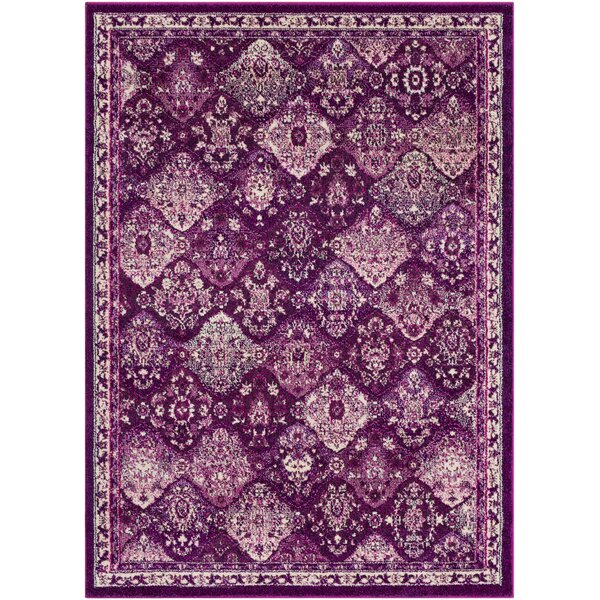 Berry Medallion Purple/Gray Area Rug by Bungalow Rose