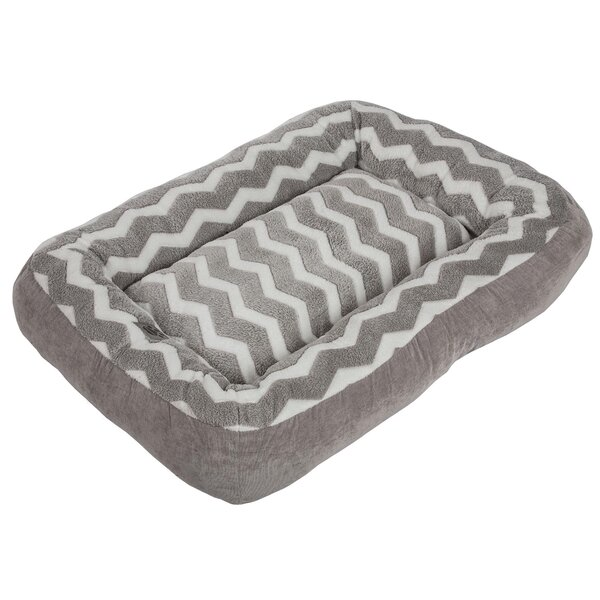 Davie Low Bumper Zig Zag Bolster Dog Bed by Tucker