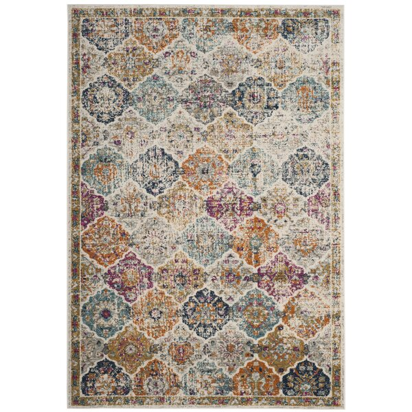 Grieve Cream Area Rug By Bungalow Rose.