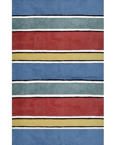 Beach Rug Gem Multi Ocean Stripes Rug by American Home Rug Co.