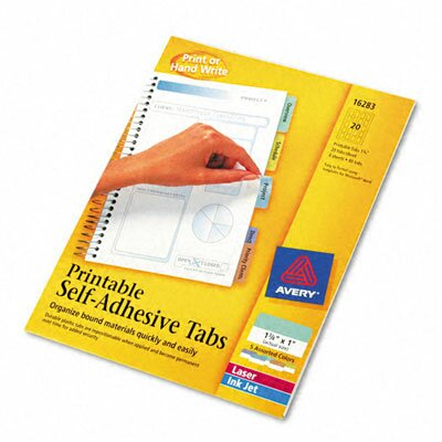 Printable Repositionable Plastic Tabs, 80/Pack by Avery