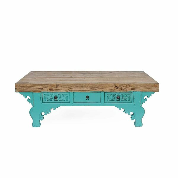 Ostia Solid Wood Coffee Table With Storage By Bloomsbury Market