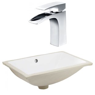 Read Reviews CSA Ceramic Rectangular Undermount Bathroom Sink with Faucet and Overflow ByRoyal Purple Bath Kitchen