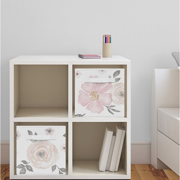 Floral Fabric Storage Cube By Sweet Jojo Designs.