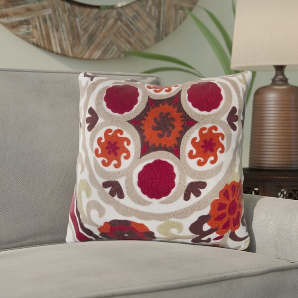 Ismael Suzani Throw Pillow by Bungalow Rose