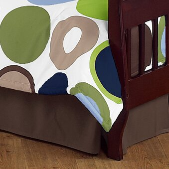 Designer Dot Toddler Bed Skirt by Sweet Jojo Designs