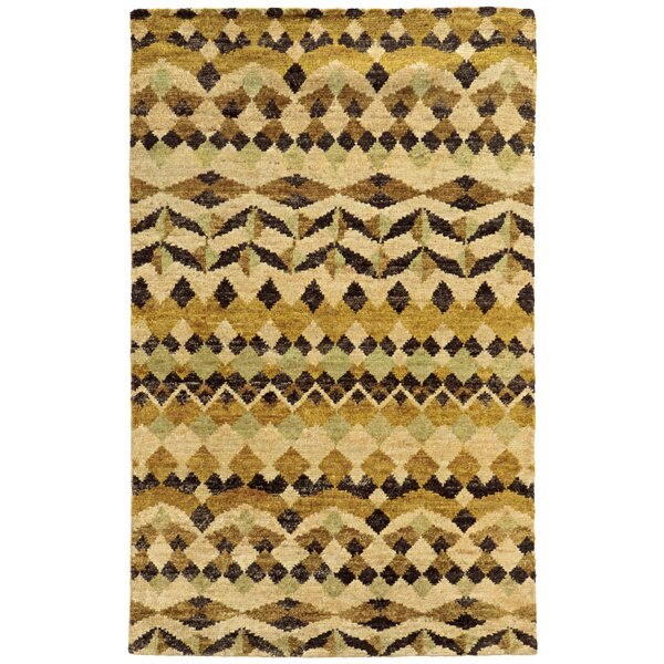 Tommy Bahama Ansley Beige / Gold Geometric Rug by Tommy Bahama Home