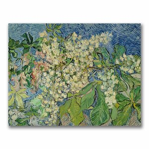 'Blossoming Chesnut Branches' by Vincent Van Gogh Painting Print on Wrapped Canvas by Trademark Fine Art