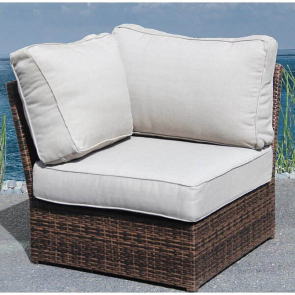 Almyra Corner Wedge Patio Chair with Cushions by Sol 72 Outdoor