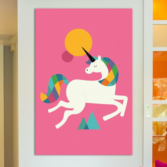 To Be A Unicorn Canvas Art by East Urban Home
