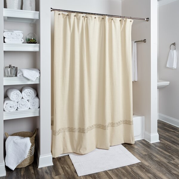 Valbonne Cotton Shower Curtain by One Allium Way