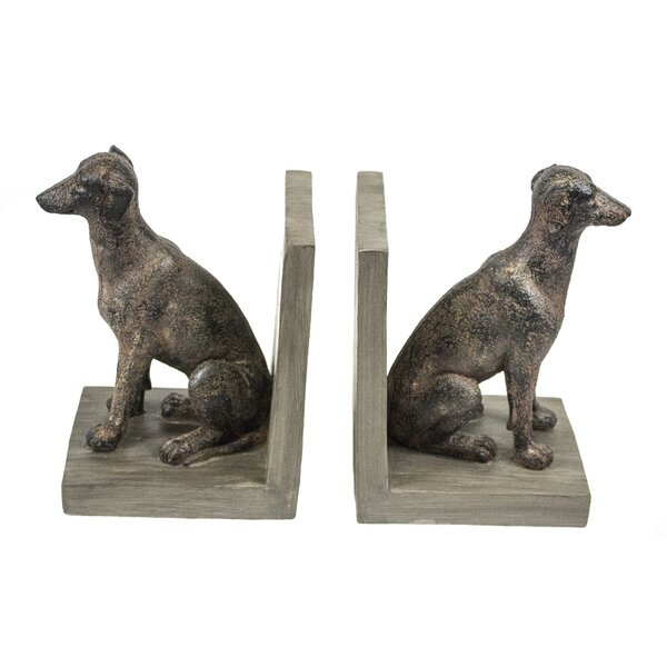 Grayhound Bookend (Set of 2) by Charlton Home