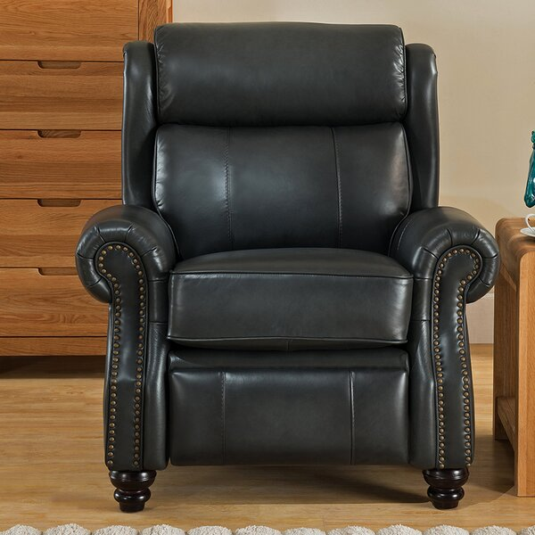 Berkeley Leather Manual Recliner by Amax