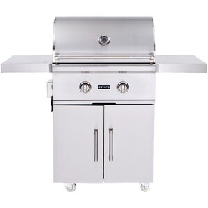 2-Burner Propane Gas Grill with Cabinet