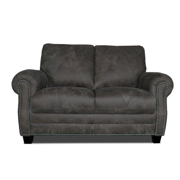 Best Price Moree Leather Loveseat