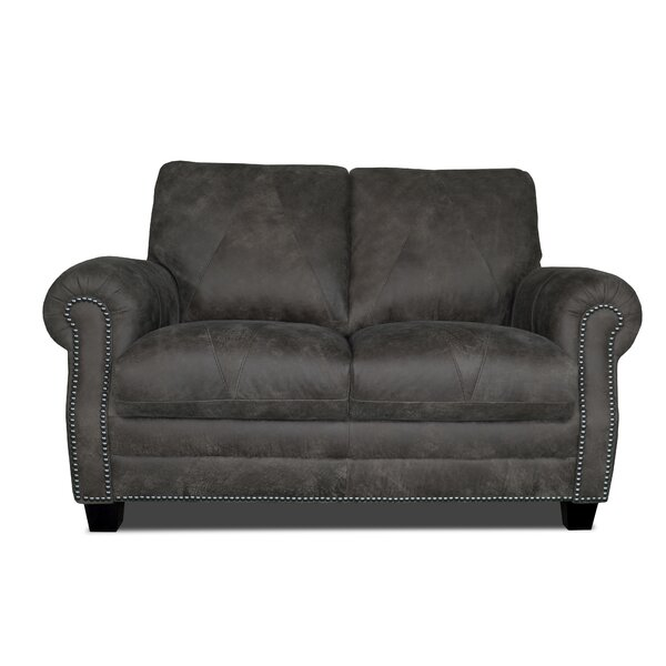 Moree Leather Loveseat By Canora Grey