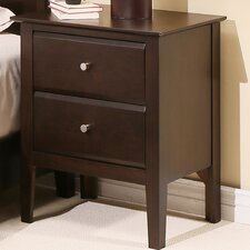 Kaitlin 2 Drawer Nightstand by Latitude Run