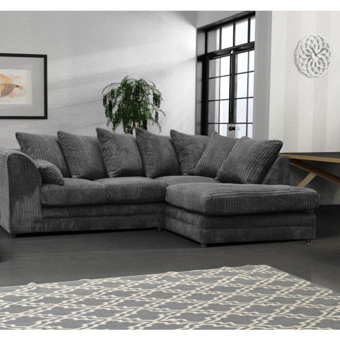 Orren Ellis Rabi 4 Seater Corner Sofa Reviews Wayfair