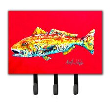 Red Fish Alphonzo Leash Holder and Key Hook by Caroline's Treasures