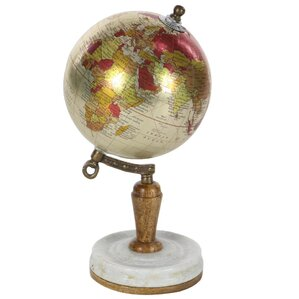 Gemstone Metal World Globe