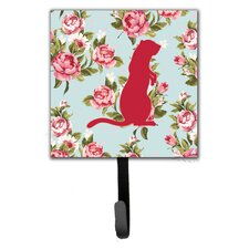 Meerkat Shabby Elegance Roses Wall Hook by Caroline's Treasures