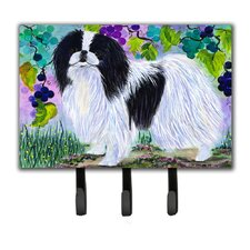Japanese Chin Leash Holder and Key Hook by Caroline's Treasures