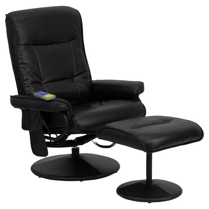 Flash Furniture Heated Reclining Massage Chair Ottoman Reviews