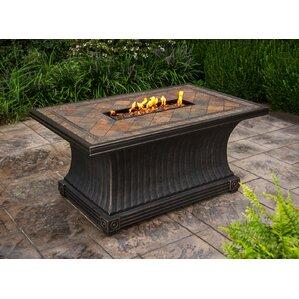 slate aluminum propane gas fire pit table