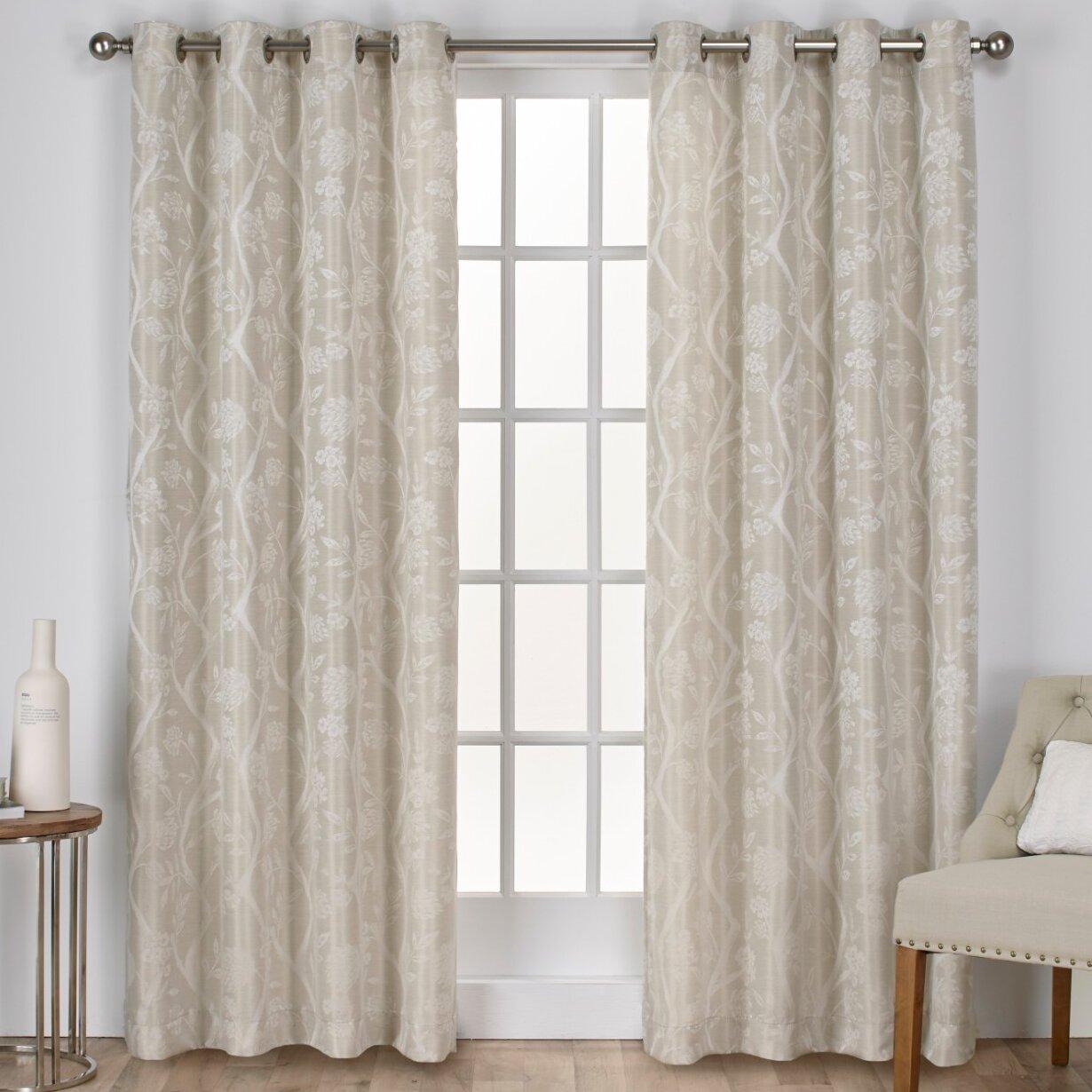 Lamont Nature Blackout Grommet Curtain Panels Reviews Joss Main