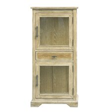 Riendeau Glass 2 Door Cabinet by August Grove