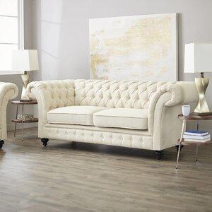 Luke Tufted Chesterfield Sofa by House of Hampton