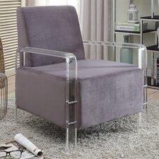 Devonshire Velvet Armchair by Everly Quinn