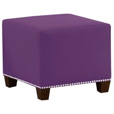 Frieda Cotton Duck Ottoman by Skyline Furniture