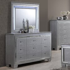 9 Drawer Dresser with Mirror by Best Quality Furniture