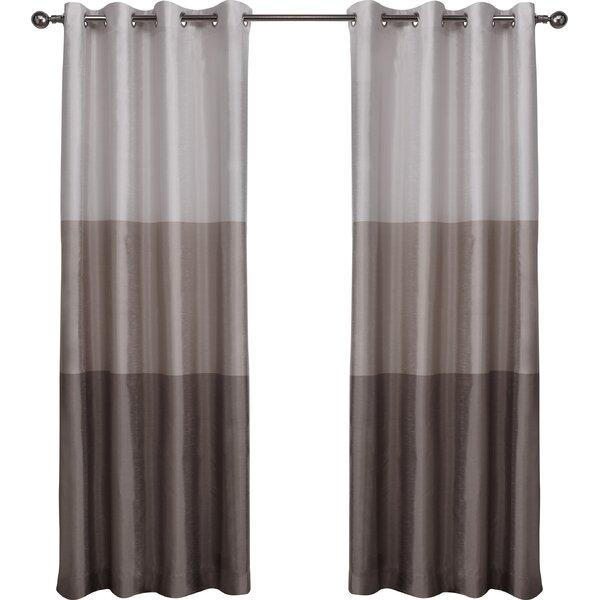Latitude Run Newton Striped Semi Sheer Grommet Curtain Panels U0026 Reviews |  Wayfair